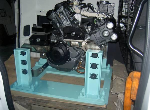 Impiegato per test a caldo funzionali e di durata di motori bicilindrici per moto.